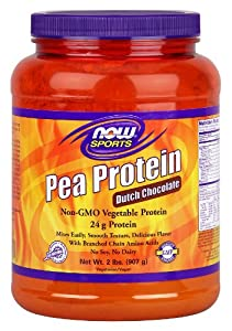 Now Foods Pea Protein Chocolate Powder, 2.4 Pound