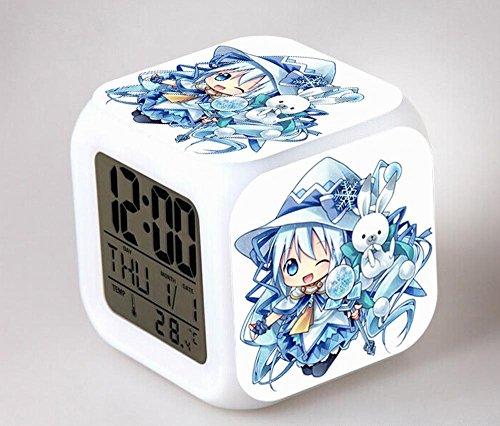 GUOHUA®Hatsune Anime Cartoon création réveil coloré pour enfants réveil réveil numérique horloge analogique horloge lumineuse , # 2