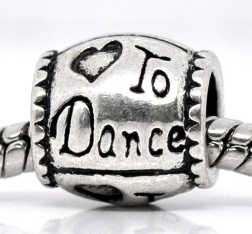 Believe Beads © 1 X 'To Dance' Charm Bead fits Pandora/Troll/Chamilia style Bracelets