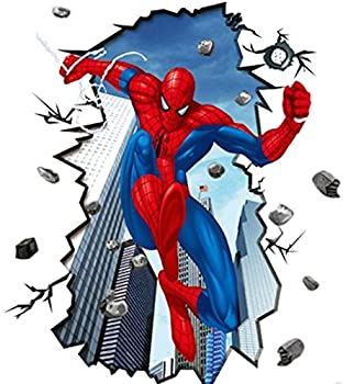 giant superman spiderman 3d wall sticker for kids rooms jungle wall stickers childrens jungle kids room giant