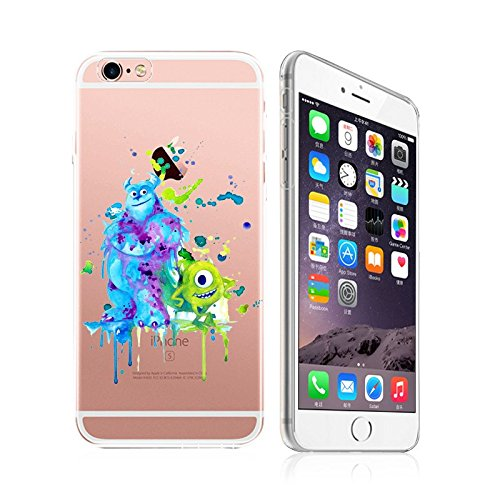 iPhone 5 / 5S , DECO FAIRY Art Paint Splash Ultra Slim Translucent Silicone Clear Case Gel Cover for Apple (BFF monsters ) (Monsters Inc Cases For Iphone 5s compare prices)
