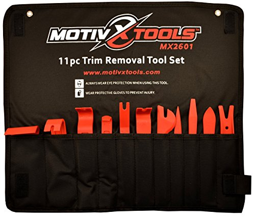 Motivx Tools 11pc Trim Removal Tool Set - Trim and Panel Removal Tools for Automotive, Marine, and Aircraft Use That Won't Scratch or Mar Delicate Surfaces Like Metal Tools (Door And Trim Removal Tool compare prices)