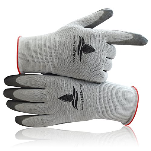 Garden Gloves Women 2 Pair Durable Breathable Nylon Gardening Gloves Nitrile Coating to Protect Against Cuts Scratches Great Grip Action with all Tools Buy the 2 Pair Pack for a Limited Time Now!