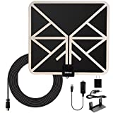 Xidomi TV Antenna 50 Miles Range HD Digital Indoor Antenna Amplified Flat HDTV Antenna with Stand - 10ft Coax Cable