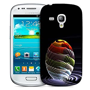 Snoogg Waves Globe Printed Protective Phone Back Case Cover For Samsung S3 Mini / S III Mini