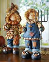 Harvest Scarecrow Couple Indoor Fall Decoration Girl By