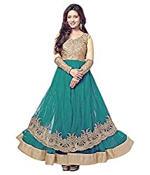 latests fashion Branded Georgette Salwar Suit Dress Material, Turquoise, 100% Genuine