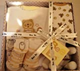 Baby Gift Box 0-3 months -Bodysuit, bib ,toy and socks by Bee Bo (Biege)