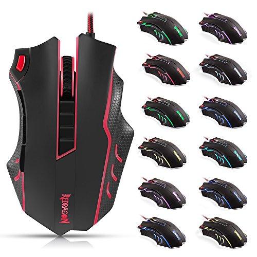 Lultima-Versione-Avanzata-DPI-24000-Redragon-Gaming-Mouse-M802-10-Tasti-Programmabili-Reale-Mouse-Da-Gaming-Supporta-Da-50-Fino-A-24000-DPI-Mouse-Da-Gioco-Con-5-Profilo-Di-Memoria-5-Modalit-Di-Retroil