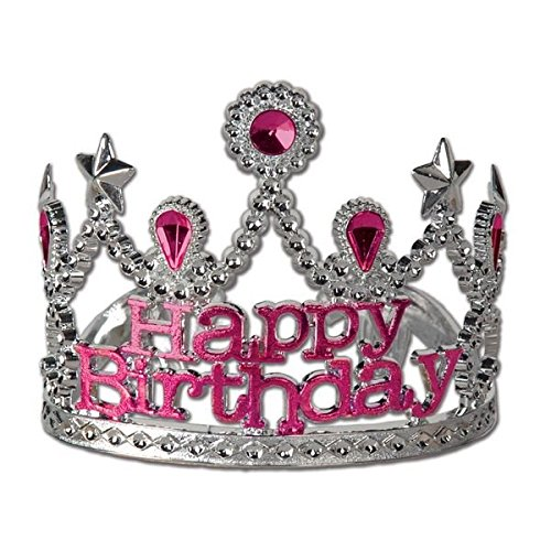 Plastic Happy Birthday Tiara Party Accessory - 1
