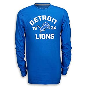 Detroit Lions Long-Sleeve Blue Arch T-Shirt by Nike by Nike
