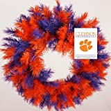 "Sterling Inc. Clemson University Tigers 24"" Wreath at Amazon.com"