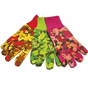 Boston industrial floral gardening gloves 1 for Gardening gloves amazon