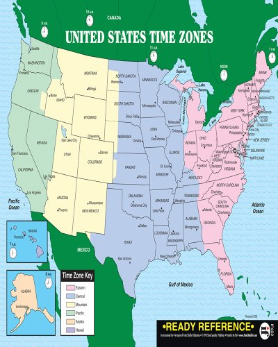 U.S. and World Maps with Time Zones (Ready Reference)