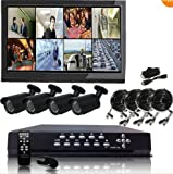 Q1C1 8 CH Channel H.264 Security Surveillance DVR IR Night Vision Camera System Kit. NO Hard Drive Installed Reviews