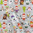 Paperchase Christmas elves 3m roll wrapping paper