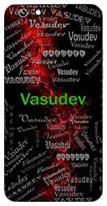 Vasudev (Lord Krishna's Father, The God Of Wealth) Name & Sign Printed All over customize & Personalized!! Protective back cover for your Smart Phone : Samsung Galaxy A-7