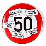 Geburtstagsschild 45x45cm verkehrs verbotszeichen schild zum 50 geburtstag 0269 frau amazon - Geburtstagsideen zum 90 ...
