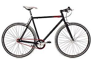 KS Cycling Fahrrad Fitness-Bike Single Speed Essence RH 56 cm, Schwarz, 28, 397B