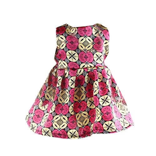 Mini Robe Sans Manches Motif Varié Vêtements Pour Poupée de 18 Pouces Fille Américaine Dolls - #4, 140