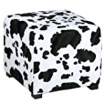 Cortesi Home Mucca Cube Ottoman in Co...
