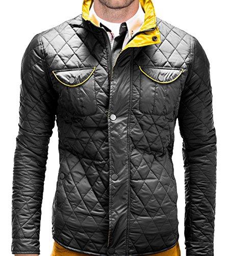 Giacca da uomo trapuntato BetterStylz Viborg lavoro e per il tempo libero da equitazione Sport giacca invernale trapuntato Slim fit misure (M -XL nero Medium