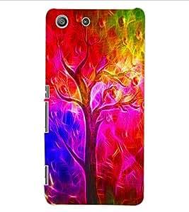 ColourCraft Colourful Tree Design Back Case Cover for SONY XPERIA M5 E5603 / E5606 / E5653