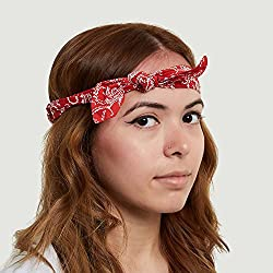 Claire's Girls and Womens Printed Bandana Headband Headwrap in Red Colour from Claire's