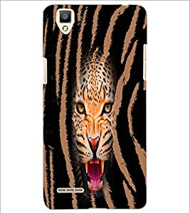 PrintDhaba Leopard D-4968 Back Case Cover for OPPO F1 (Multi-Coloured)