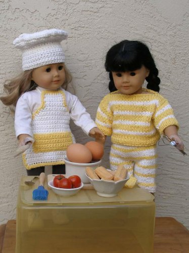 Kitchen Magic Knitting & Crochet Patterns for 18 inch dolls