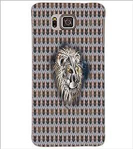 PrintDhaba Metallic Lion Face D-5068 Back Case Cover for SAMSUNG GALAXY ALPHA (Multi-Coloured)