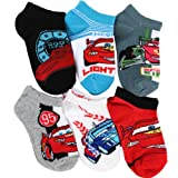 Disney Cars Lightning McQueen 6-Pack Ankle Socks Size 4-6