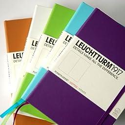 Leuchtturm GENUINE Black LEATHER Notebook - Medium A5 - Plain - Blank
