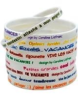 Caroline Lisfranc - Set 10 Bracelet Vacances Silicone