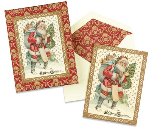 CR Gibson Christmas Blessings Boxed Cards, Old