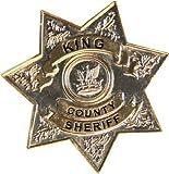The Walking Dead King County Sheriff Metal Badge