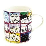 マンハッタナーズ(Manhattaner's) マグカップ 猫社会(77-0138-OTH)