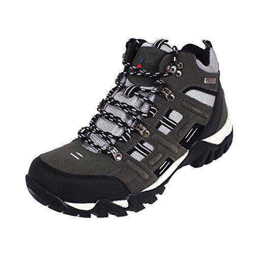 Alpi Vertigo-Mitri Antracite/Grigio-Scarpe Marche escursioni, Grigio antracite scuro, 43