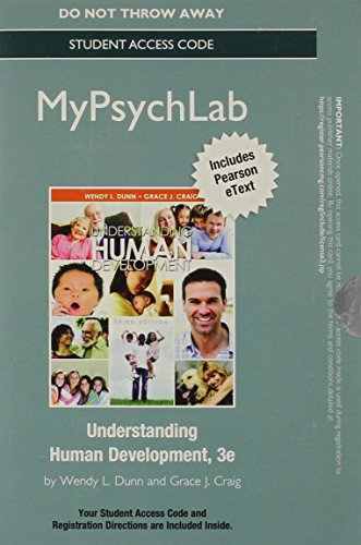 NEW MyPsychLab with eText -- Standalone Access Card -- for Understanding Human Development (3rd Edition)