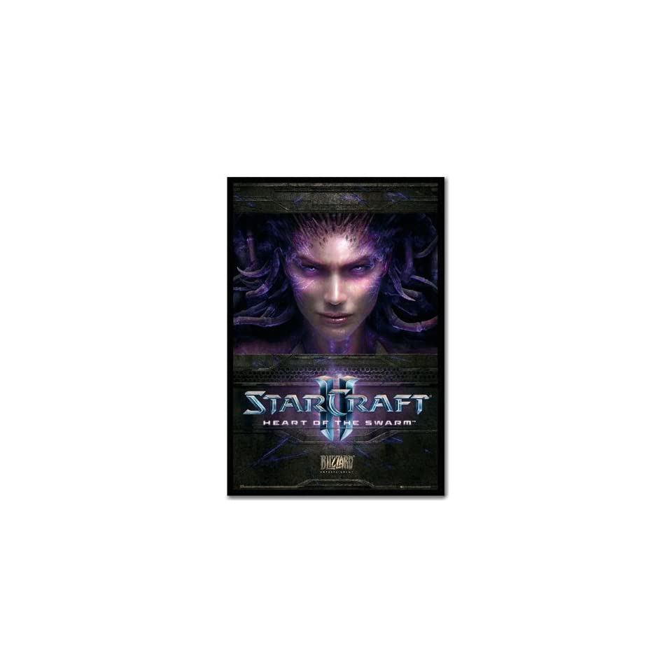 Iposters Starcraft 2 Heart Of The Swarm Poster Black Framed & Satin Matt Laminated   96.5 X 66 Cms (approx 38 X 26 Inches)
