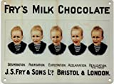 FRY'S FIVE BOYS MILK CHOCOLATE Metal Advertising Sign (SMALL 200mm X 150mm)