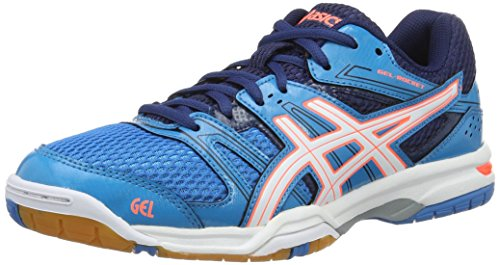 Asics Gel-Rocket 7, Scarpe da Pallavolo Donna, Multicolore (Blue Jewel/White/Flash Coral), 38