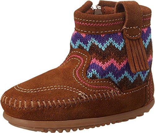 Minnetonka Girls Sweater Bootie Dusty Brown Size 12 M US Little Kid