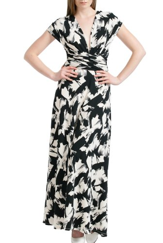 Jessie G. Women's 'Kayla' Multi-Way Infinity Wrap Maxi Dress – Black & White …
