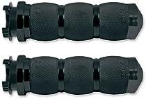 Avon Grips Touring 3-Ring Air Cushioned Metric Grips - Black , Color: Black MT-AIR-90-ANO