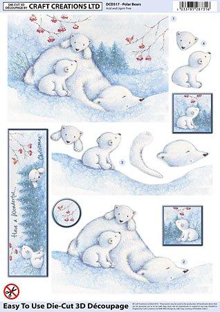 craft-creations-die-cut-3d-decoupage-dcd517-polar-bears-a4-210x297mm-step-by-step-layout
