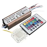 Farwind AC85V-265V 100W RGB Chip Light Bulb Bead Waterproof LED Driver Power Supply with Remote Controller (Color: rgb)
