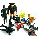 Newest Set of 10 How To Train Your Dragon PVC Dolls with Two Puppets and Eight Dragon Dolls
