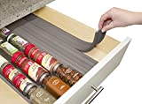 YouCopia SpiceLiner® In Drawer Spice Organizer 6-Pack (24 Bottles) Warm Gray