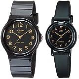 Casio #MQ24-1B2/LQ139A-1 Men and Women's Classic Analog Watches